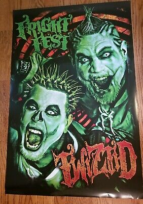Twiztid - Fright Fest Poster halloween hallowicked insane clown posse hok - Twiztid Halloween