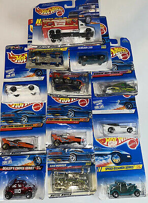 Hot Wheels Lot of 12- DEALERS CHOICE, WHITE ICE, BUGGIN OUT, Duncan Hines, etc.