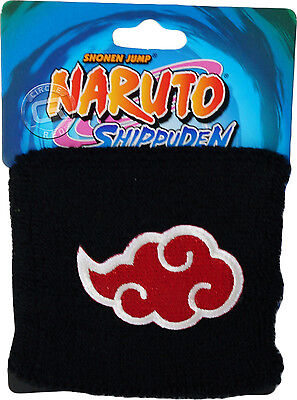 Naruto Shippiden Akatsuki Cloud Symbol Icon Wristband Sweatband New Official