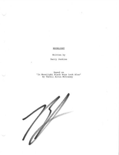 * BARRY JENKINS * signed movie script * MOONLIGHT * DIRECTOR * COA * 1