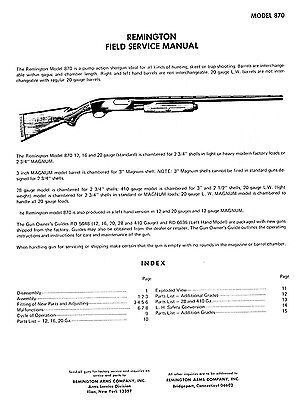 Remington Model 870 Field Manual Introduced in 1949