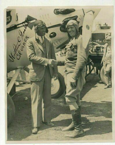 Original 8x10 Photo Aviator Arthur Goebel Signed Pilot US Air Force 1920