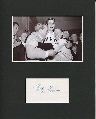 Bobby Thomson New York Giants Shot Heard 'Round the World Signed Photo Display