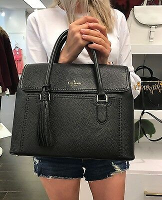 KATE SPADE MCCALL STREET NICOLLE LEATHER BAG WARM BLACK