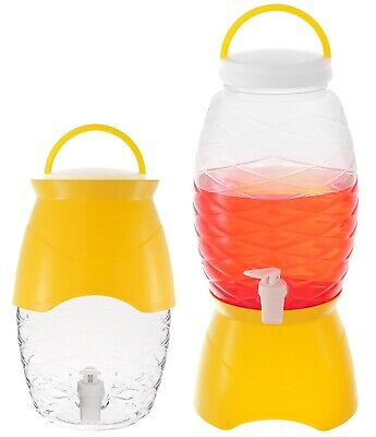 - Plastic Beverage Dispenser with Stand Party Drink Server 1.18 Gallon 4.5L Yellow