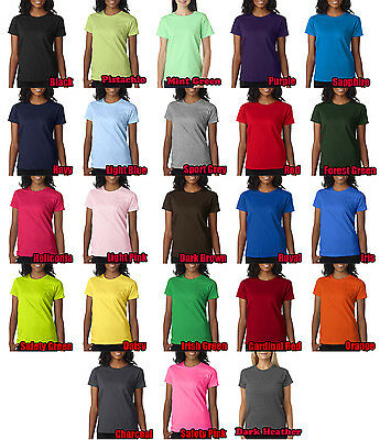 Gildan Ladies Ultra Cotton Blank Tee-Shirt Small-3XL All Colors and Sizes - Gildan Ladies Tee