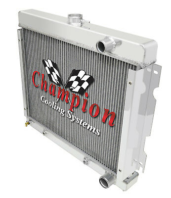 1973 Plymouth Duster Champion Cooling CA All Aluminum Radiator