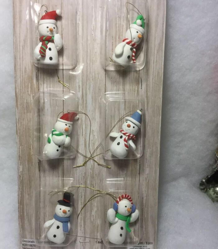 Mini Snowman Christmas Tree Ornaments for crafting and mini trees