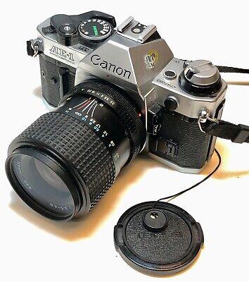 Canon AE-1 Program  35mm Camera with Tokina 35-70mm Lens