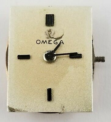 1969 Ladies OMEGA 484 Watch Movement, Dial & Hands, Not Running, 50hr Mainspring