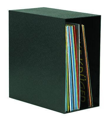 Vinyl - Archiv Box, LP Aufbewahrungsbox, schwarz, unterteilt