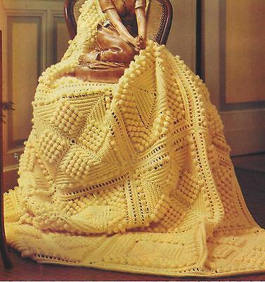 "Baby Crochet Afghan/Blanket Pattern ""Popcorn Squares"" in DK 768 for sale  Swanley"