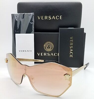 NEW Versace sunglasses VE2182 12526F 43mm Gold Pink Gradient Mirror (Versace Pink Sunglasses)