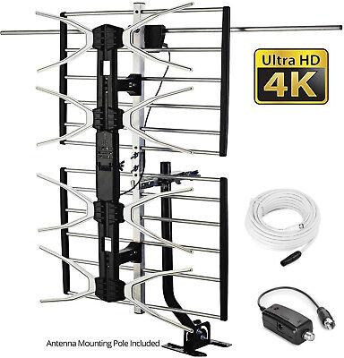 digital tv antenna amplifier outdoor indoor attic