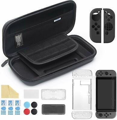 Kit 11 in 1 Accessori per Nintendo Switch, Custodia + Cover Incluse 3 Pellicole