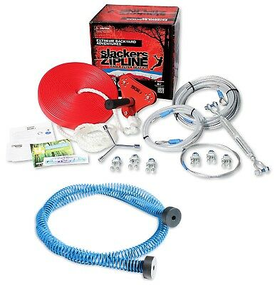 Slackers Zip Line (Brand 44 Slackers Eagle Series 90' Zipline Cable Trolley Kit w/ Seat & Brake)