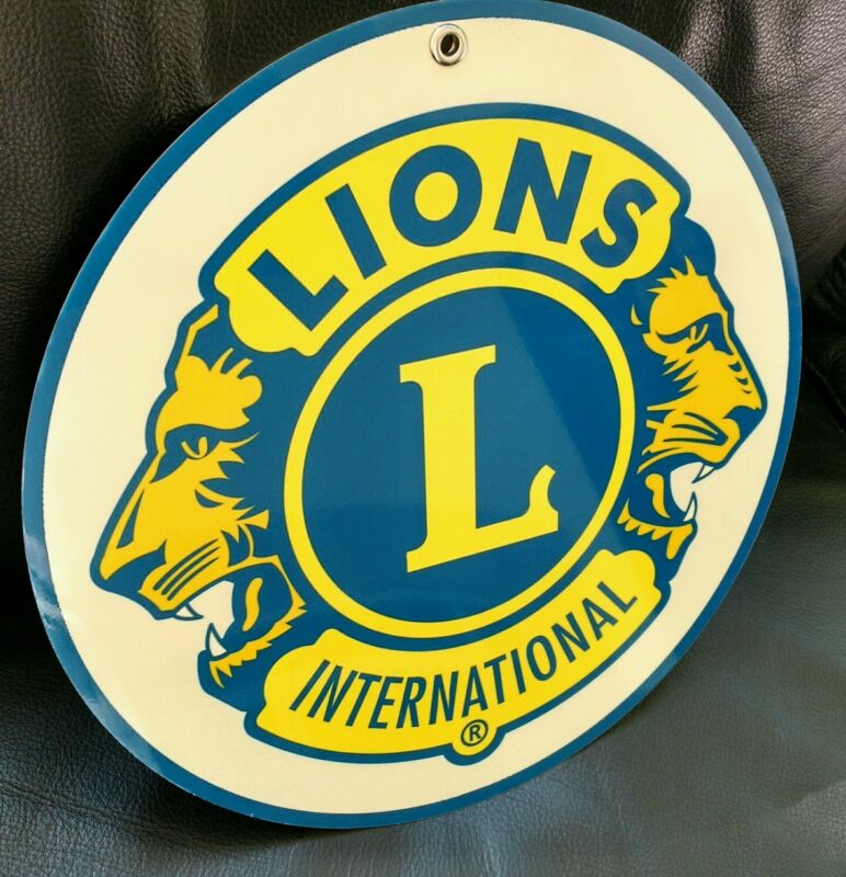 Lions Club International logo sign .. crest insignia