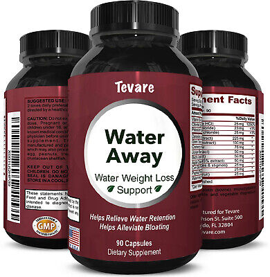 Water Away Diuretic Pills - Natural Water Weight Loss Suppor