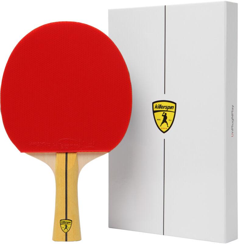 Killerspin JET400 SMASH N1 Intermediate Table Tennis Paddle, Red