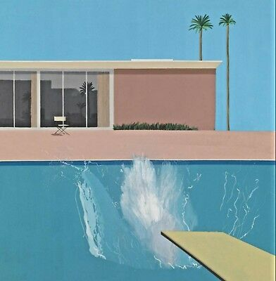 "Used, David Hockney A Bigger Splash  Canvas 20""x20"" for sale  Coventry"