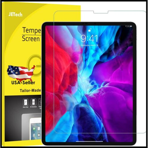 """JETech Screen Protector for iPad Pro 12.9""""(2020/2018 Model) Tempered Glass Film"""