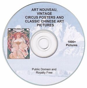 Posters of the Art Nouveau period and more! - 1000+ public domain images on CD