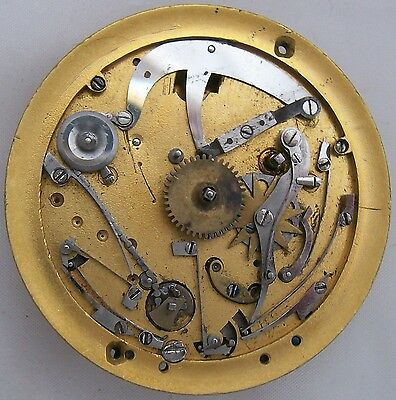 (Repeater Key wind pocket watch movement & dial 47,5 mm. balance broken)