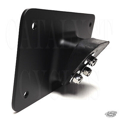 Black Laydown License Plate Mounting Bracket for Harley Softail Sportster Dyna