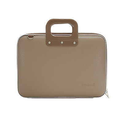 """Bombata - Taupe Medio Classic 13"""" Laptop Case/Bag with Shoulder Strap"""