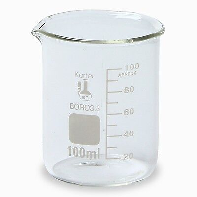 Karter Scientific 100 Ml Low Form Graduated Glass Beaker