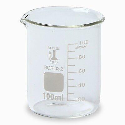 Karter Scientific 100 Ml Low Form Graduated Glass Beaker