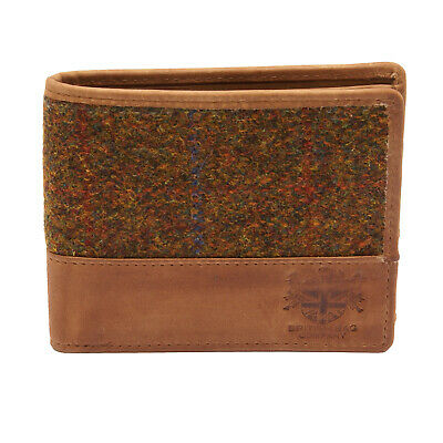 The British Bag Company - Stornoway Harris Tweed Wallet with Tan Leather Trim