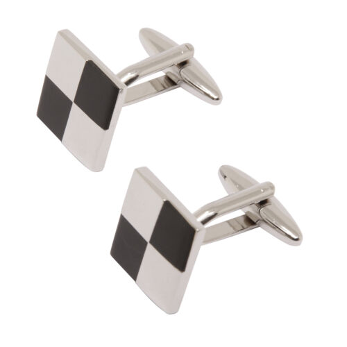 Sophos+-+Silver+and+Black+Squares+Cufflinks+in+Presentation+Gift+Box