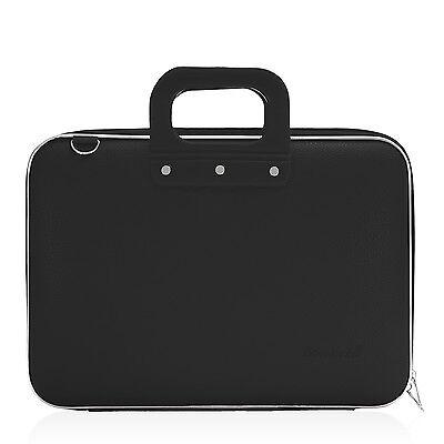 "Bombata - Black Medio Classic 13"" Laptop Case/Bag with Matching Shoulder Strap"