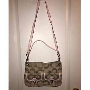 f92f39b711ae Pink and khaki Coach purse