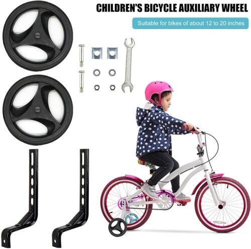 Training Wheels for 12 14 16 18 20 inch Bike Bicycle Kids Heavy Duty Stabilizers