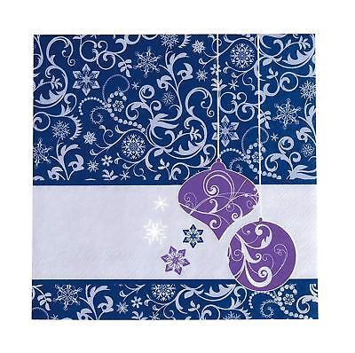 Sigel ZB456 / ZB457 lila 6 Pack. Weihnachts-Servietten und 10 Pack. Pappteller  ()