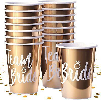 Team Bride Cups Gold Bachelorette Party Decorations & Favors Metallic Gold
