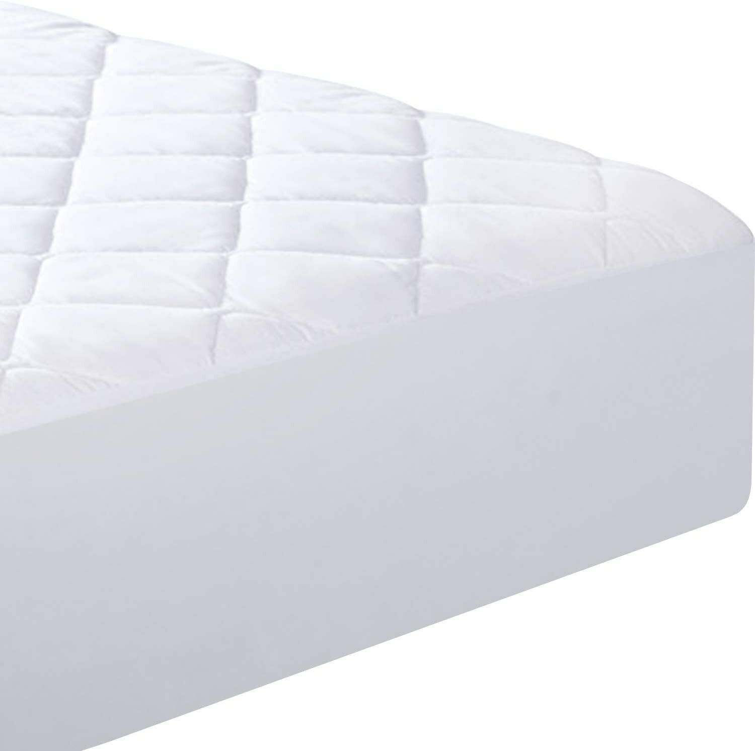 New Fitted Quilted Mattress Pad Cover King Size Comfortable