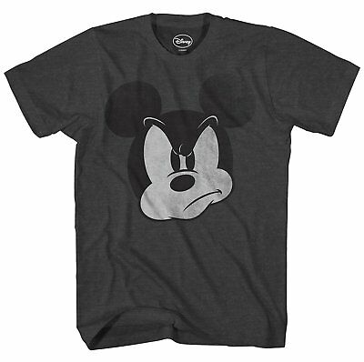 Disney Mad Mickey Mouse World Disneyland Men Humor Adult Graphic T-Shirt - Adult Disney Apparel