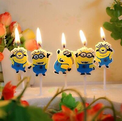 Birthday Minions Despicable Me Cake Candle Candles Topper Party Minion Decor (Cake Decorations Minions)