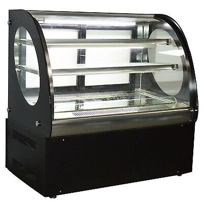 220v Refrigerated Display Case Commercial Pie Cake Showcase Cabinet 3 Layers