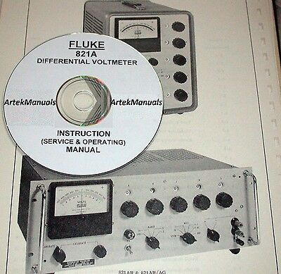 Fluke 821a Differential Voltmeter Operating Service Manualschematics