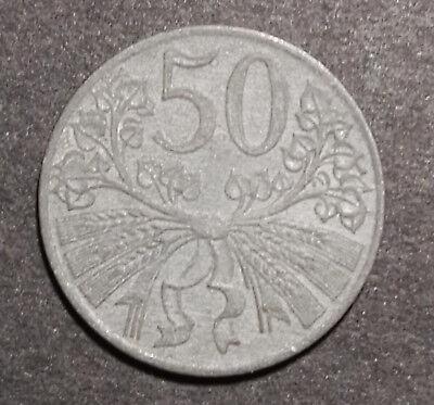 Böhmen und Mähren 1941 sehr schön Zink 50 Heller