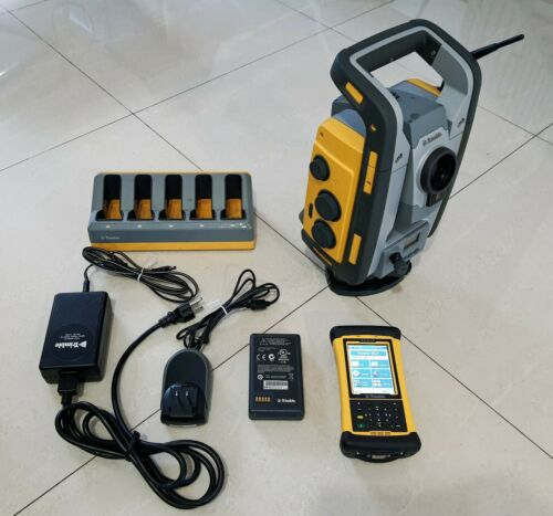 Trimble RTS555 DR STD 5″ Robotic Total Station + Nomad with MEP software