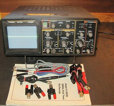 Protek P-3502c 20 Mhz Dual Trace. Includes Manual Leads Protective Case Clean