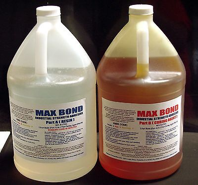 Epoxy Resin High Strength Glue Medium Viscosity 4 Metals Concrete Wood Frp 2 Gal