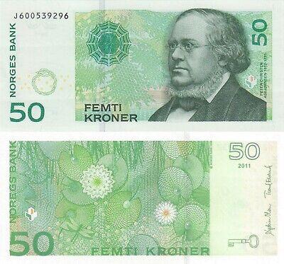 NORWAY 50 KRONER Jotunheimen NATIONAL PARK POLYMER 2018 ELK WOLVERINE