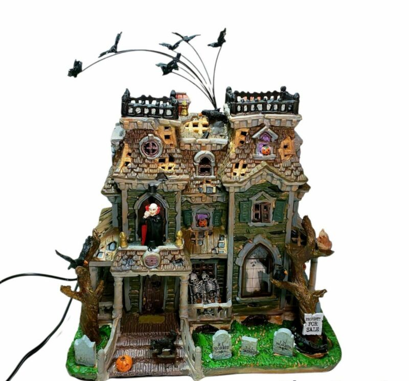 Lemax Spooky Town Morbid Manor Halloween Light and Sound House 95804 in Box 2009