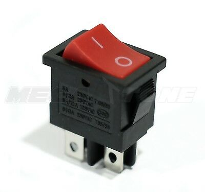 Dpst Kcd1 Mini Rocker Switch On-off 6a250vac T85 - High Quality - Usa Seller
